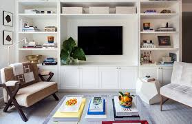 Built In Tv Bookcase Wall Units Amusing Built In Shelves Around Tv Built In Shelves