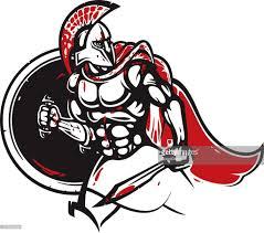 spartan warrior helmet vector art getty images