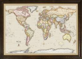 Artistic World Map by Amazon Com Homemagnetics Mm3624wld Magnetic Travel Map Of The