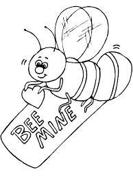 kids animal coloring pages bee mine valentine coloring pages