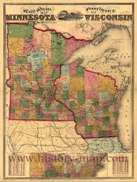 Wisconsin Road Map by Railroads Of Minnesota And Wisconsin