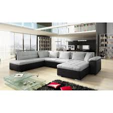 canap d angle blanc et gris canapé d angle panoramique alia en u contemporain 6 à 7 places