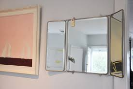 Tri Fold Mirrors Bathroom Décor At Coastal Vintage Home Garden Gardens