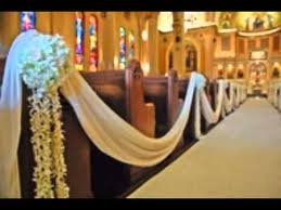 Pew Clips Decoration Ideas For Wedding Pews Youtube