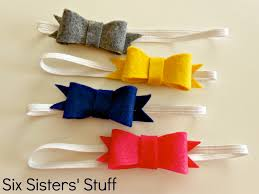 felt headbands felt bow hairbow tutorial and free printable template six