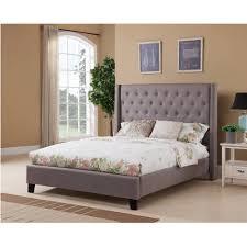 Upholstered Bedroom Sets Dalton Wingback Queen Size Upholstered Bed Set U2013 Hobo