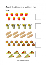 kindergarten worksheets counting count the number of math for grad