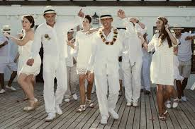 All White Attire For All White Summer Wedding In Spain