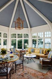 paint colors u2013 a blue ceiling with white beams the enchanted home