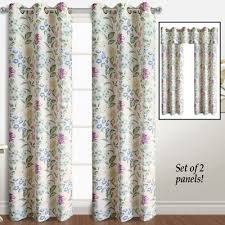 Curtain Pairs Christine Floral Curtain Panel Pairs From Collections Etc