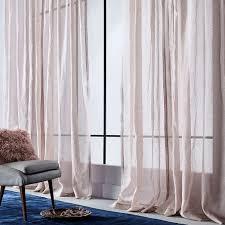 sheer metallic printed curtain dusty blush west elm