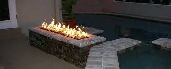 Real Flame Fire Pit - modern ideas rectangular gas fire pit astonishing amazoncom real