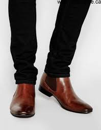 on sales men u0027s asos chelsea boots in leather brown shoes