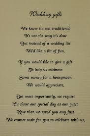 Wedding Gift Money Poem Honeymoon Poem For Wedding Invites