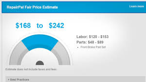 Brake Cost Estimate by Repairpal Estimates What Car Repairs Should Cost In Your Area