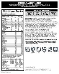 100 calorie muscle milk light vanilla crème muscle milk light ready to drink vanilla creme 17 fl oz