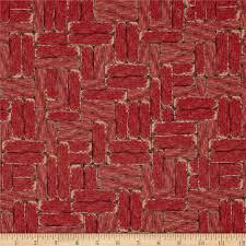 mia country flock digital print wood block red home colors and