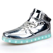 high top light up shoes gold silver high top shoes that light up led shoes usb charged