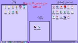 the holladay life how to organize your desktop background