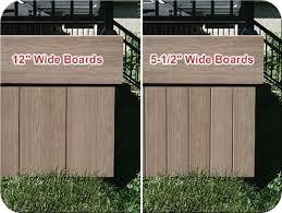 fence all composite sun deck