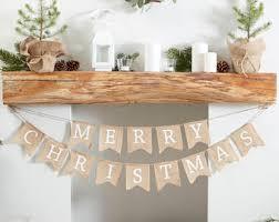 red hessian christmas bunting burlap christmas bunting merry