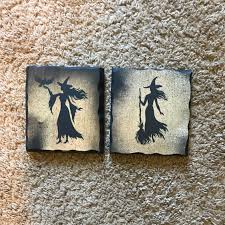 Witch Home Decor Small Witch Plaques Signs Witch Home Decor Witch Sign