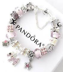 ebay charm bracelet silver images Authentic pandora silver bracelet pink dog crystal mom european jpg
