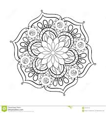 zentangle stylized elegant black mandala for coloring page stock