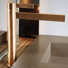 brushed gold designer bathroom faucet