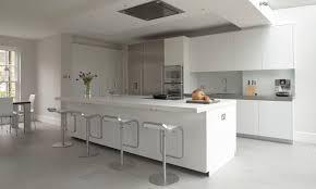 contemporary kitchen stainless steel laminate island