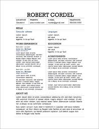 resume templates free 12 resume templates for microsoft word free