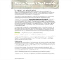 disaster recovery plan template pdf 28 images sle business