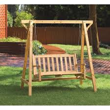 Swing Bench Outdoor by Amazon Com Weatherproof Wood Home Patio Garden Decor Bench Swing