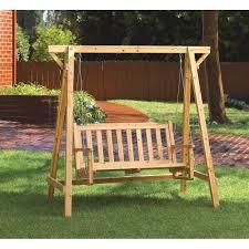 amazon com weatherproof wood home patio garden decor bench swing