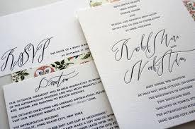 wedding invitations calligraphy noah s classic wedding invitations with modern calligraphy