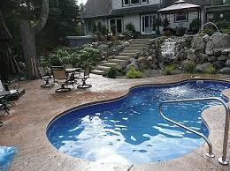 Cost Of Small Pool In Backyard Small Inground Pool Cost Cepagolf