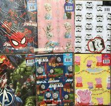 marvel wrapping paper birthday child spider theme wrapping paper sheets ebay