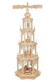 german pyramid wooden candle powered carousel german
