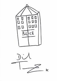 rare signed sketch of the tardis by dr who star david tennant pf390
