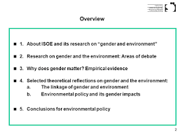 institut für sozial ökologische forschung gmbh research on gender