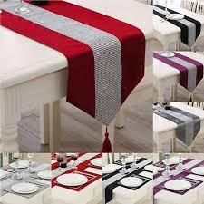 uk thick chenille modern velvet diamond table runner and table