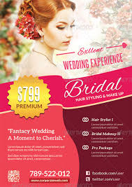 professional makeup and hair stylist incomparable wedding flyer templates with makeup artist flyer