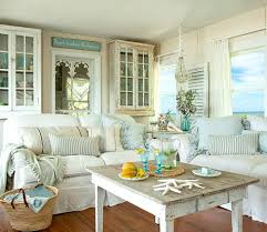 shabby chic white u0026 pastel living room in a beach cottage take