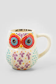 be awesome owl ceramic mug francesca u0027s