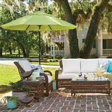 Patio Furniture Set With Umbrella - exterior orange target patio umbrellas with orange wicker patio