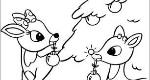 reindeer coloring pages u2013 vonsurroquen