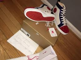 christian louboutin mens sneaker size 9 hi top sneakers for sale