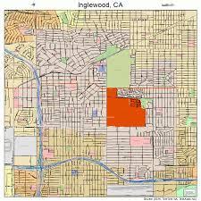 map of inglewood california inglewood california map 0636546