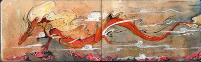 japanese painting aurora chinese dragon by rubisfirenos on japanese painting aurora chinese dragon by rubisfirenos