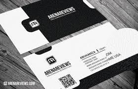 classy exquisite black u0026 white business card template